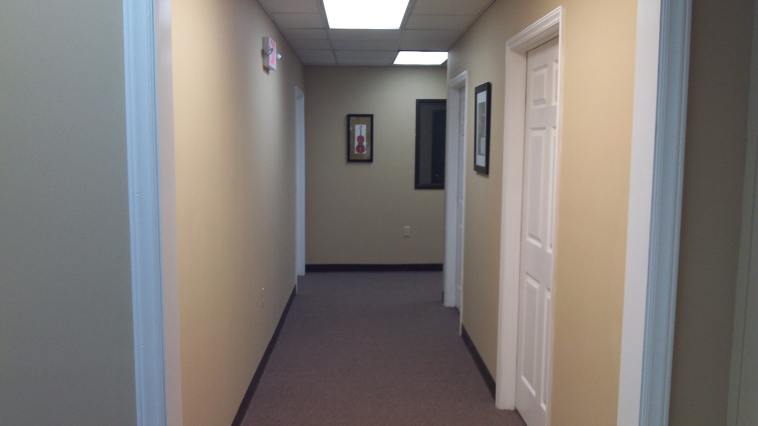 Studio Hallway to Four Additional Private Teaching Studios