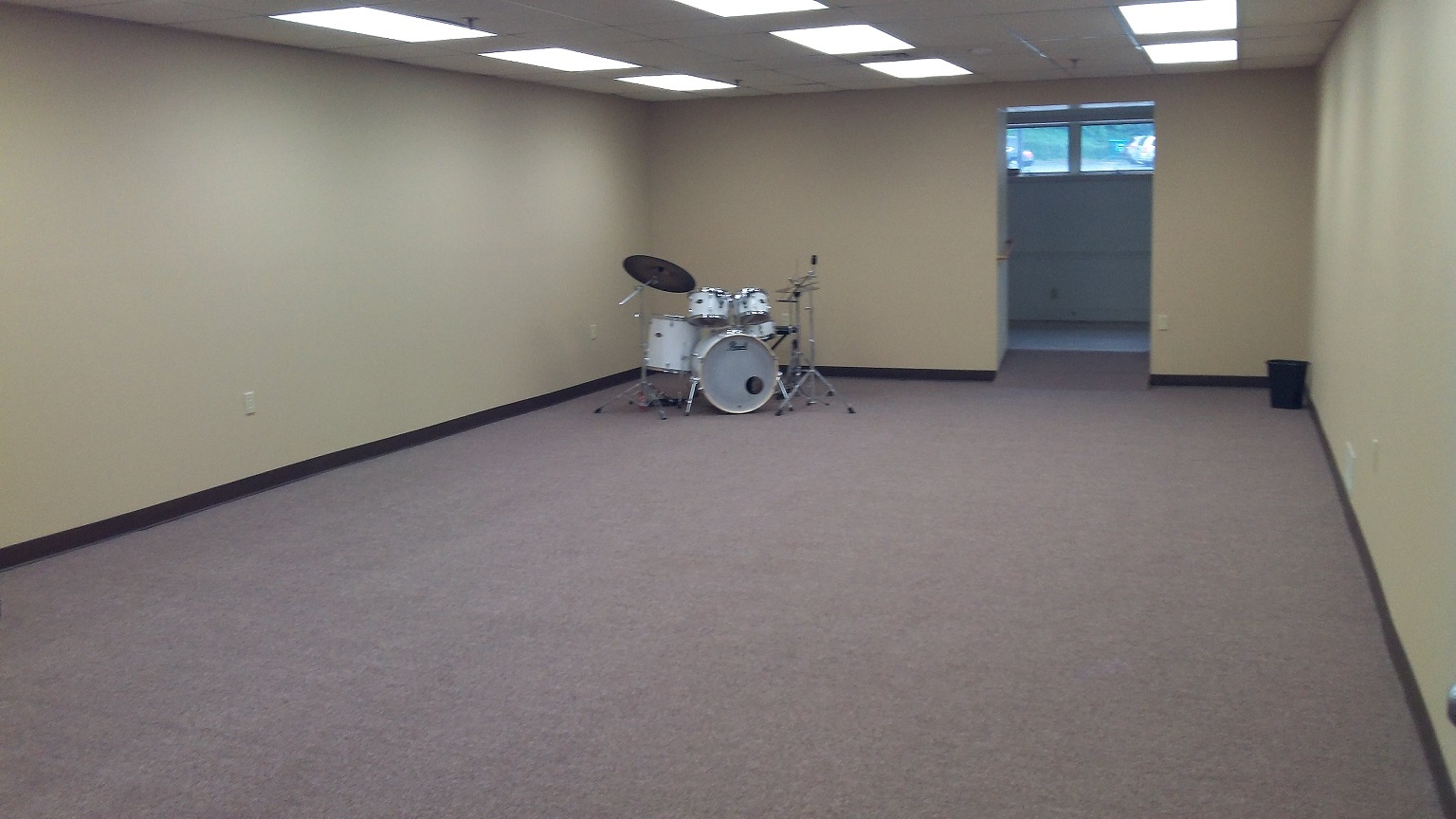 Rehearsal Area with 700 Square Feet of Space for Larger Ensembles