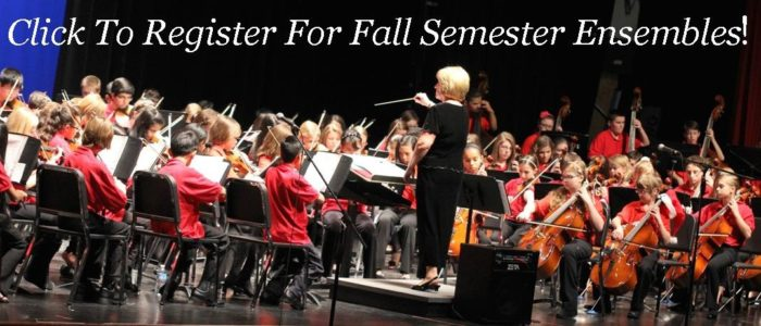 Click HERE To Register For Fall Semester Ensembles
